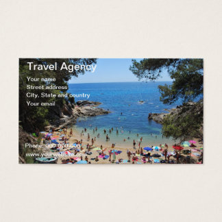 card of travel agency