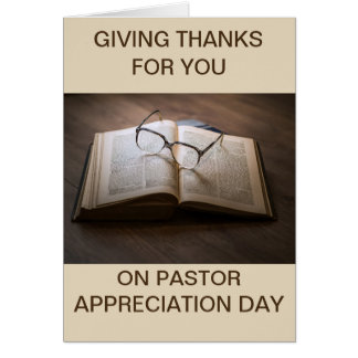 Card Pastor Appreciation Day Jeremiah 3:15