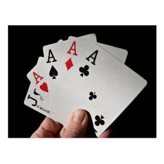 Card Player Postcard