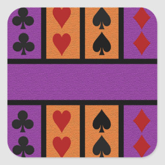 Card Player stickers, customize Square Sticker