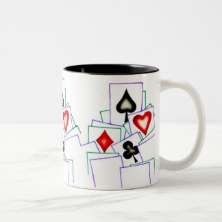 Card Player Suits Two-Tone Coffee Mug