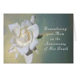 Remember death cards invitations zazzle card remembering your mum on death anniversary card m4hsunfo