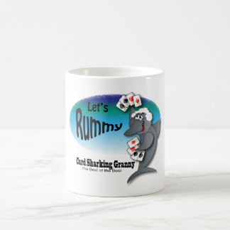 Card Sharking Granny Coffee Mug