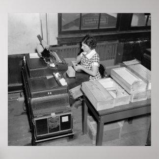 Card Shuffler: 1937 Print