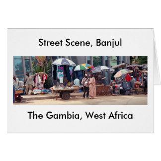 "Card, ""Street Scene, Banjul, Gambia, West Africa"" Card"