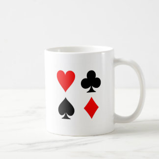 Card Suits Red and Black Coffee Mug