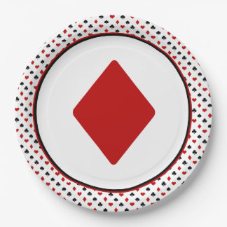 Card Suits Theme | Red Diamond Paper Plate