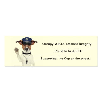 Card supporting the Street Cop Pack Of Skinny Business Cards