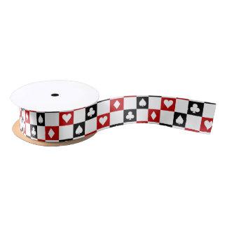 Card suti Gambling pattern party ribbon Satin Ribbon
