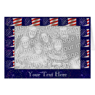 Card Template - American Flag Border