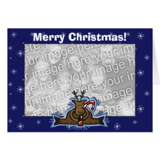 Card Template - Christmas Reindeer