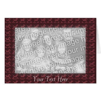 Card Template - Cranberry Red Mosaic Tile