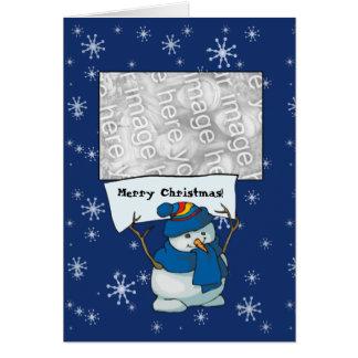 Card Template - Snowman Merry Christmas