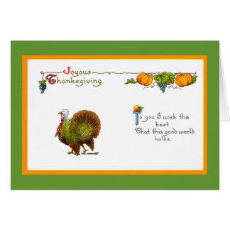 Card - Thanksgiving Vintage Greeting