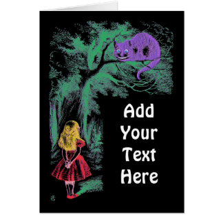 """Card:""""The Cheshire Cat"""" from """"Alice in Wonderland"""" Greeting Card"""