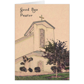 Card to Say Good Bye to Your Pastor