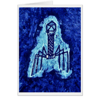 Card with Batik of Phage Virus