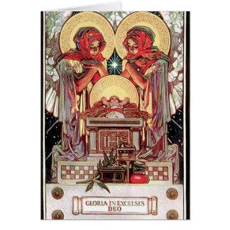 Card with Xmas illustration by J.C. Leyendecker