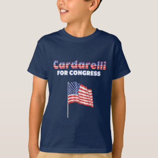 Cardarelli for Congress Patriotic American Flag T-Shirt
