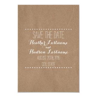 Cardboard Inspired Wedding Save The Date 9 Cm X 13 Cm Invitation Card