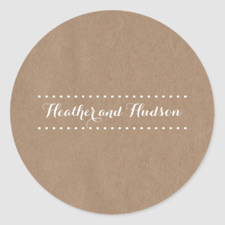 Cardboard Inspired Wedding Sticker