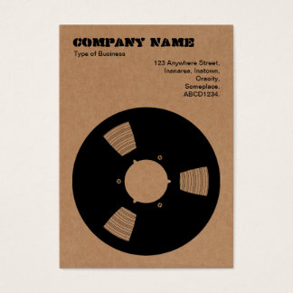 Cardboard Recording Tape Spool Business Card