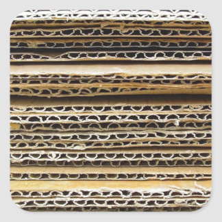 Cardboard Stripes Square Sticker