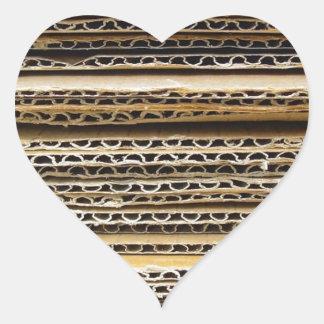 Cardboard Stripes Heart Sticker