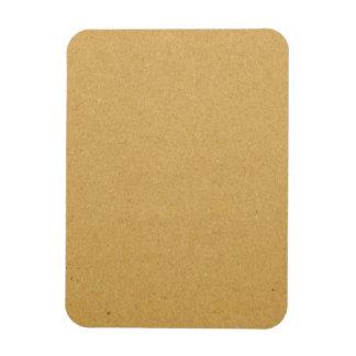 Cardboard texture rectangular photo magnet