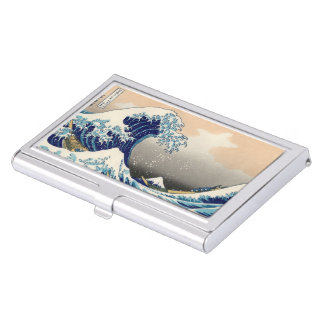"""Cardcase """"of Kanagawa open sea 浪 reverse side"""" of Business Card Holder"""