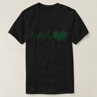 Cardiac moniter displaying heart T-Shirt