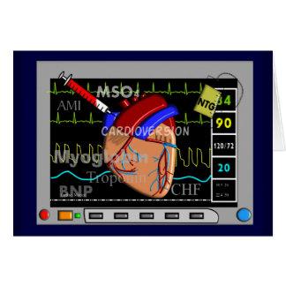 Cardiac Nurse Greeting Cards Monitor Design