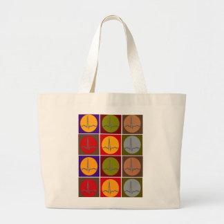 Cardiac QRS Pop Art Canvas Bags