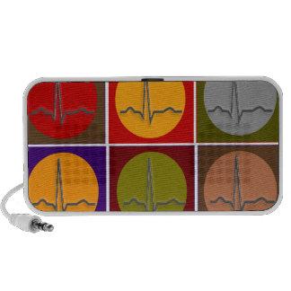 Cardiac QRS Pop Art Laptop Speakers