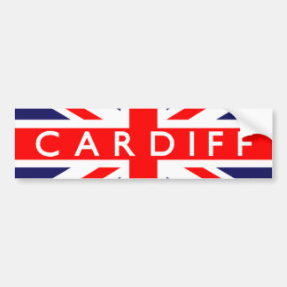 Cardiff British Flag Bumper Stickers