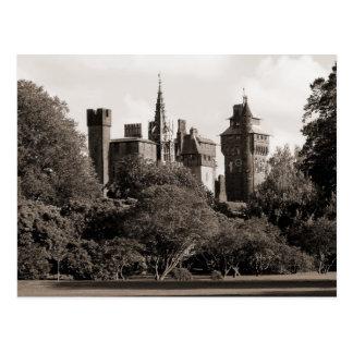 Cardiff Castle II - Sepia Postcard