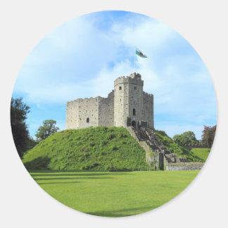 Cardiff Castle Keep II Round Sticker