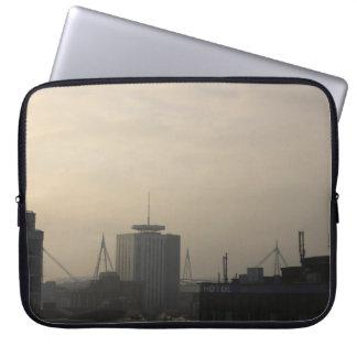 Cardiff City Skyline Laptop Sleeve