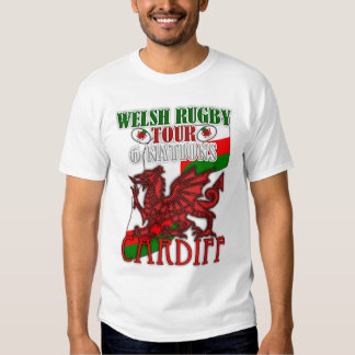 Cardiff Welsh Rugby Tour 6 Nations Welsh Dragon T-shirt