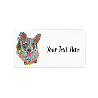 Cardigan Welsh Corgi Address Label