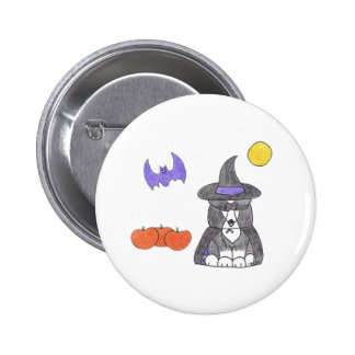Cardigan Welsh Corgi Black Button