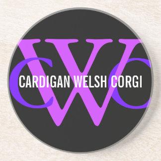 Cardigan Welsh Corgi Breed Monogram Coaster