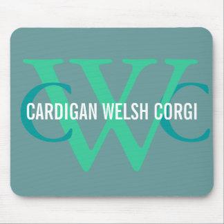 Cardigan Welsh Corgi Breed Monogram Mouse Pad