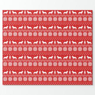 Cardigan Welsh Corgi Christmas Sweater Pattern Wrapping Paper
