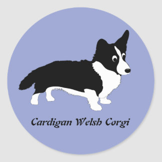 Cardigan Welsh Corgi Classic Round Sticker