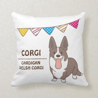 cardigan welsh corgi cushion