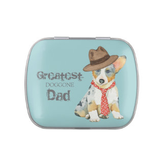 Cardigan Welsh Corgi Dad Jelly Belly Candy Tins