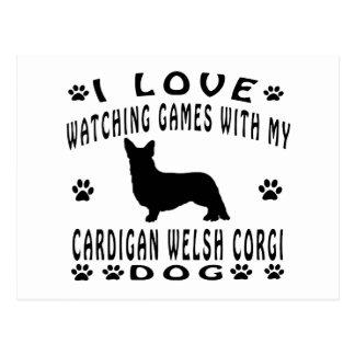 Cardigan Welsh Corgi designs Postcard