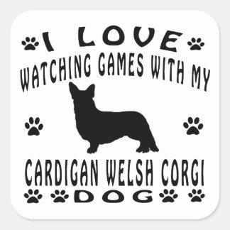 Cardigan Welsh Corgi designs Square Sticker