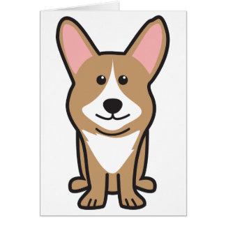 Cardigan Welsh Corgi Dog Cartoon Greeting Card